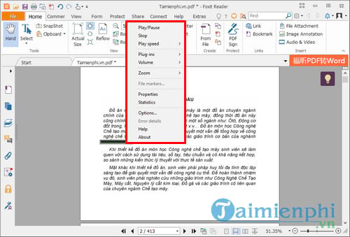 How to import music into pdf file by foxit reader 13