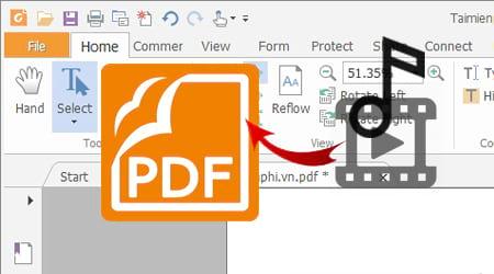 cach chen am thanh nhac vao file pdf bang foxit reader