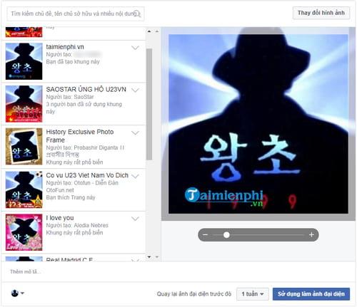 Cách tạo khung hình Avatar Facebook kèm hiệu ứng 14