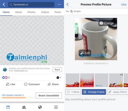Cách tạo khung hình Avatar Facebook kèm hiệu ứng 15