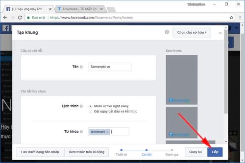 Cách tạo khung hình Avatar Facebook kèm hiệu ứng 7