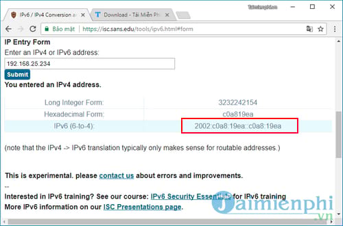 How to convert ipv4 address to ipv6 and re-source 3