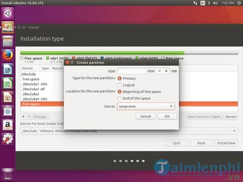 Cách cài Ubuntu song song với Windows 10, 8, 7 UEFI và GPT 12