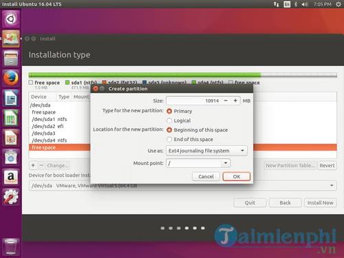Cách cài Ubuntu song song với Windows 10, 8, 7 UEFI và GPT 13