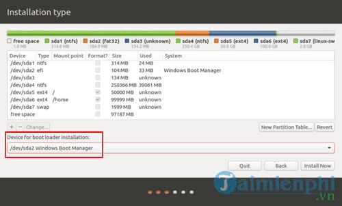 Cách cài Ubuntu song song với Windows 10, 8, 7 UEFI và GPT 15