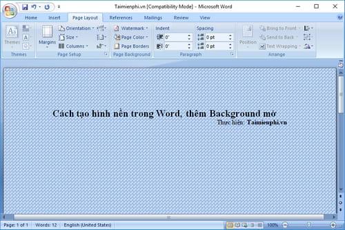 Cách tạo hình nền trong Word, thêm Background mờ 6