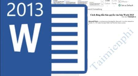 cach dong dau ban quyen van ban word 2013
