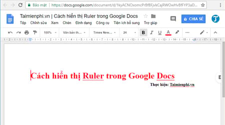 cach hien thi ruler trong google docs