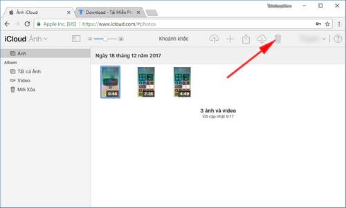 Cách xóa ảnh trên iCloud cho iPhone, iPad 3