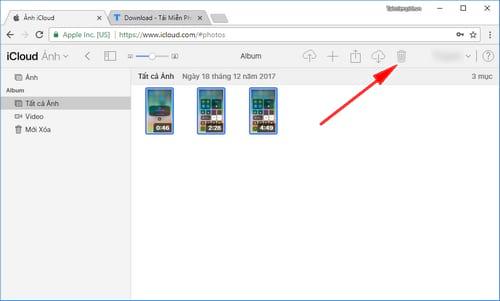 Cách xóa ảnh trên iCloud cho iPhone, iPad 4