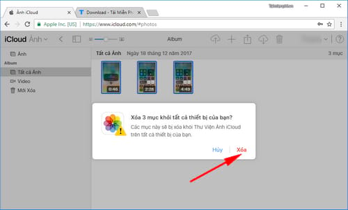 Cách xóa ảnh trên iCloud cho iPhone, iPad 5