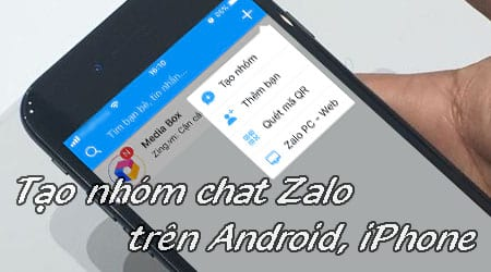 cach tao nhom chat zalo tren android iphone
