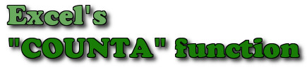 Excel - Hàm COUNTA, Hàm đếm ô chứa dữ liệu