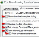 IDM - Tự động tắt máy tính khi tải xong dữ liệu
