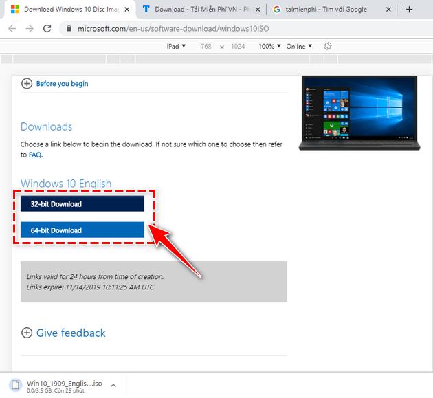 Link tải file ISO Windows 10 ver 1909 6
