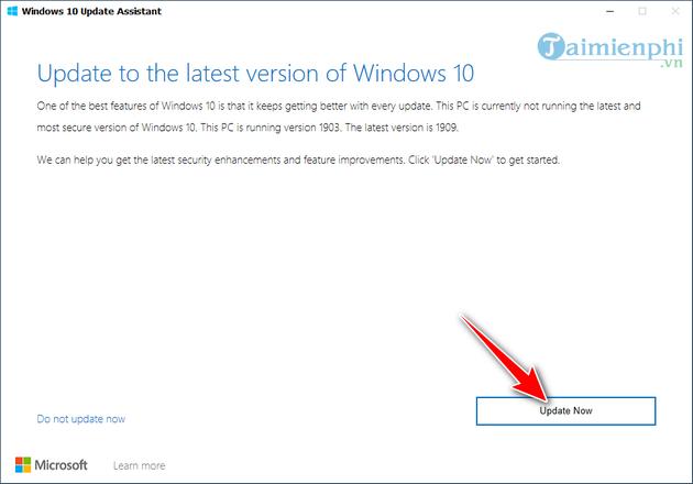cach cap nhat windows bang windows 10 update assistant 3