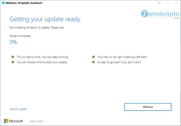 cach cap nhat windows bang windows 10 update assistant 5