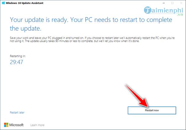 cach cap nhat windows bang windows 10 update assistant 6