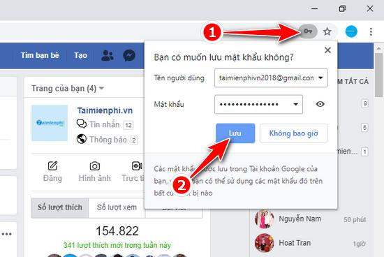 Cách lưu mật khẩu Facebook trên Chrome