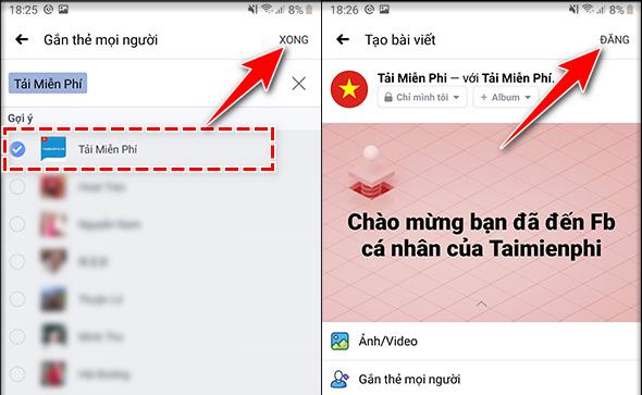 Cách tag tên Facebook trên điện thoại chi tiết