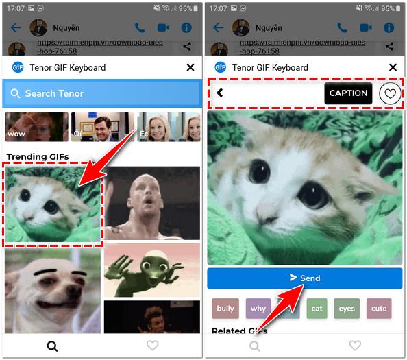 Cách gửi ảnh động GIF trên Facebook Messenger