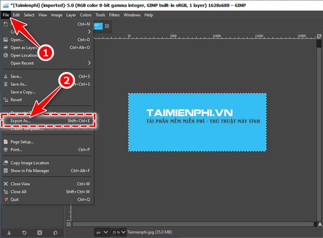 Hướng dẫn chỉnh sửa ảnh bằng GIMP trên máy tính