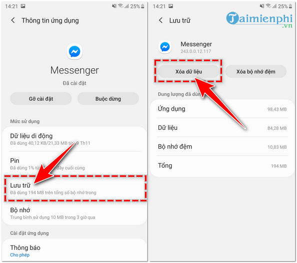 Đăng xuất Messenger, thoát Facebook Messenger trên iPhone, Android, Windows Phone 2