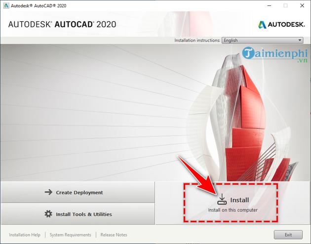 Hướng dẫn tải và cài AutoCAD 2020