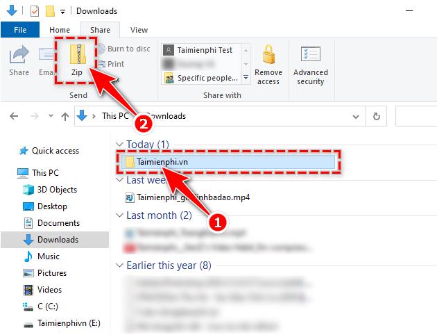 Cách nén và giải nén file trên Windows 10 2