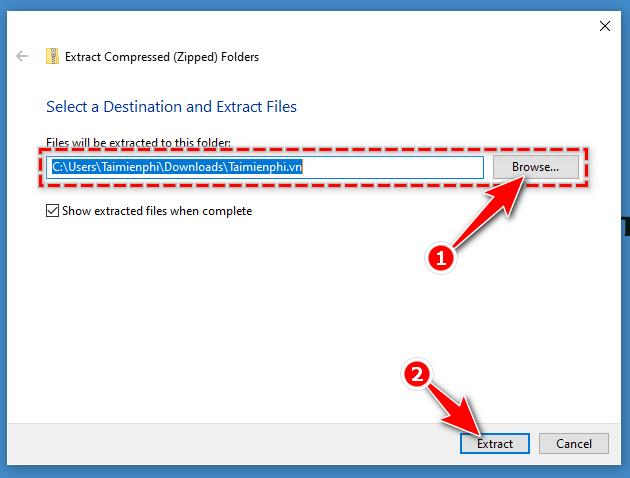 Cách nén và giải nén file trên Windows 10 4