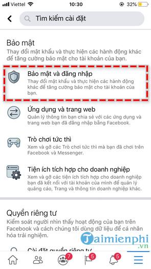 Đổi mật khẩu Facebook trên iPhone, thay pass Facebook trên điện thoại iPhone, iPad