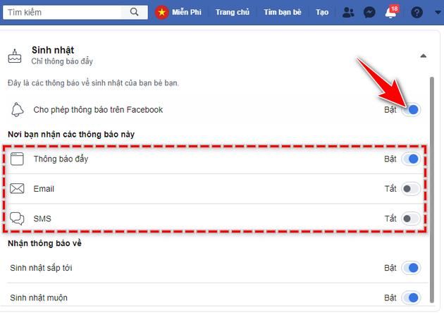 cach hien thong bao sinh nhat tren facebook 6