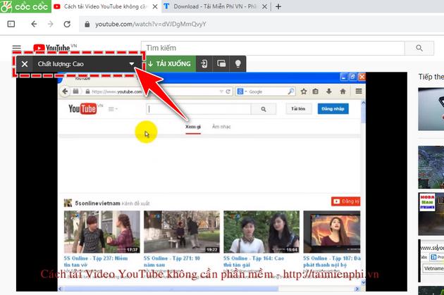 Cách tải Video Youtube về máy tính dùng và không dùng phần mềm hay nhất 7