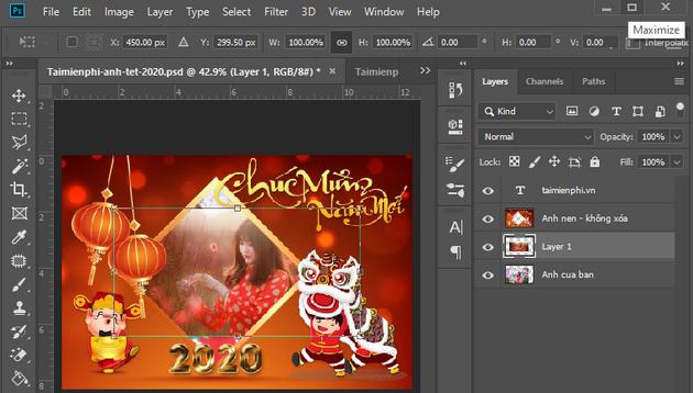 Cách tạo Banner ảnh Tết 2020 bằng Photoshop
