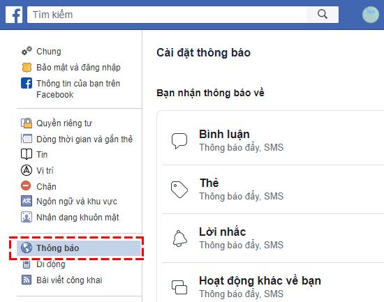 Ngăn chặn Facebook gửi thông báo trong Email đăng kí