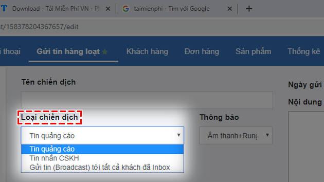 cach gui tin nhan hang loat tren facebook 3