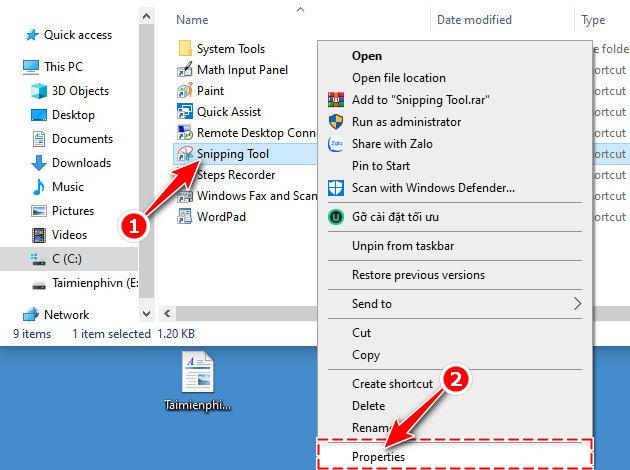 Các phím tắt Snipping Tool giúp chụp màn hình máy tính nhanh hơn