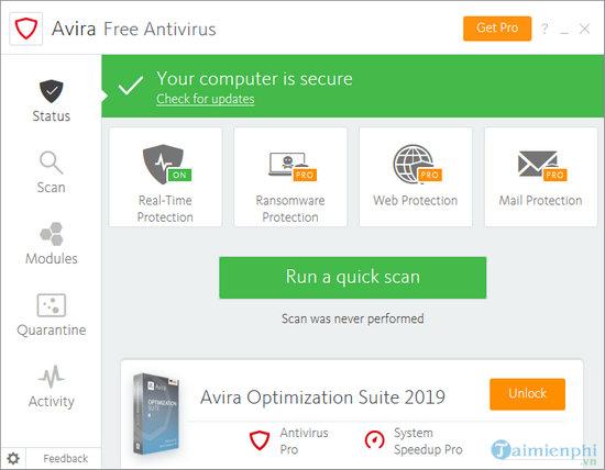 cai avira free antivirus tren may tinh 7