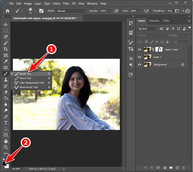 Cách chỉnh sửa ngược sáng bằng Photoshop CC 2020