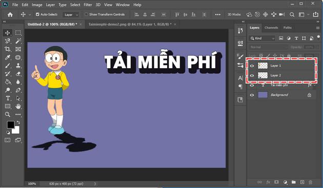 Cách tạo hiệu ứng bóng đổ trong Photoshop CC 2020