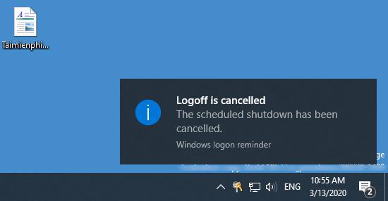 Cách hủy lệnh hẹn giờ tắt máy tính Windows 10 2