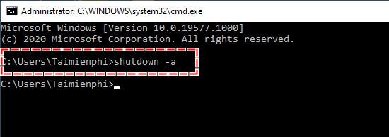 Cách hủy lệnh hẹn giờ tắt máy tính Windows 10 4