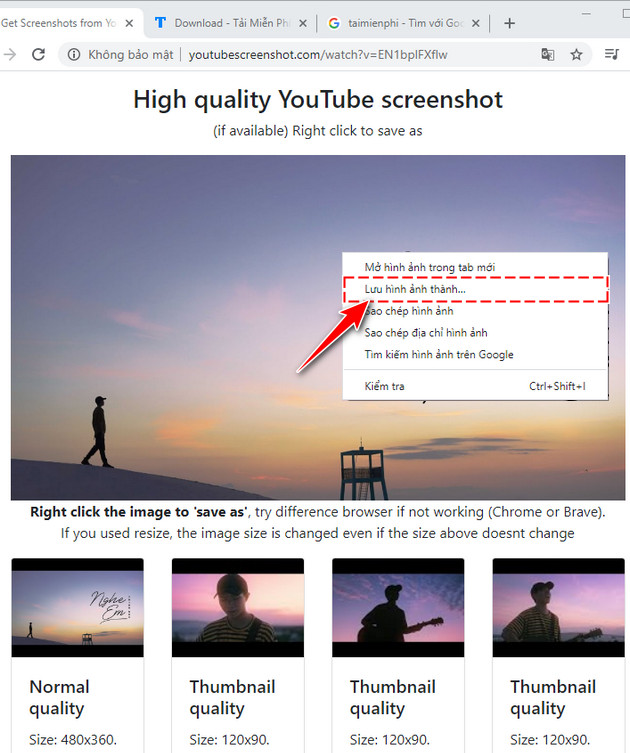 Cách lấy ảnh thumbnail của video Youtube chất lượng cao 7