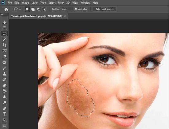 Cách loại bỏ tàn nhang trên khuôn mặt bằng Photoshop CC 2020