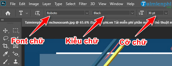 Cách thêm chữ vào ảnh trong Photoshop CC 2020