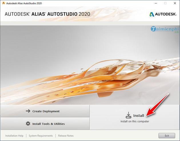 Cách cài đặt Autodesk Alias Studio 2020