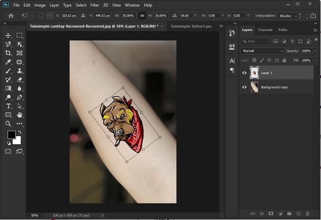 Cách thêm hình xăm vào ảnh bằng Adobe Photoshop CC 2020