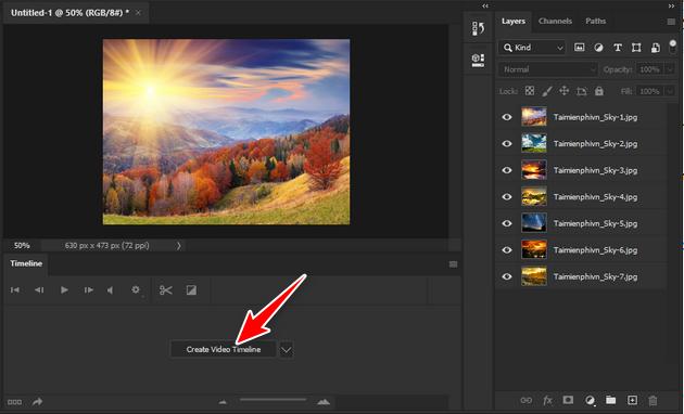 Cách tạo ảnh động bằng Photoshop CC 2020 đơn giản nhất