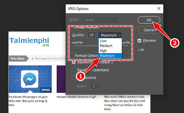 Cách xuất file ảnh để in ấn trong Photoshop 5