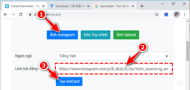 cach tao anh instacard anh 2 lop 12